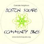 boston square community bikes sticker