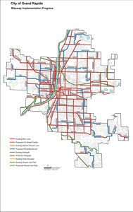 Grand Rapids Bikeway Implementation Map